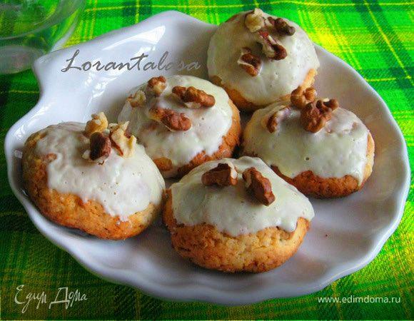 Печенье с грецкими орехами и белым шоколадом
