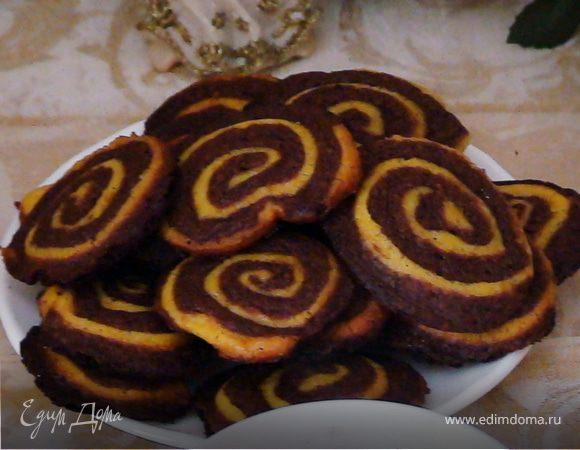 Шоколадно-апельсиновые полосатые колесики