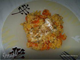Почти паэлья из чечевицы и моркови с треской