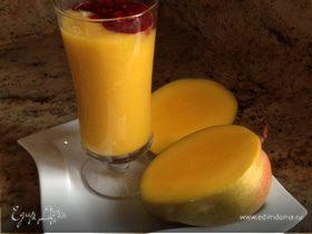Освежающий десерт. Крем-манго