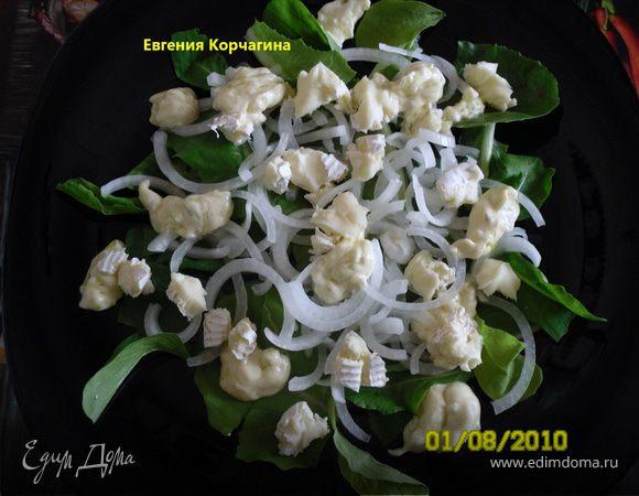 Салат из лука и сыра по рецепту Джейми Оливера