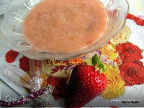 Клубнично-ревеневое фламмери (десертный крем)