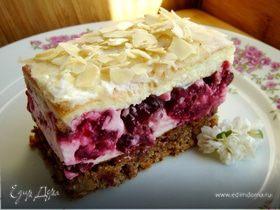 Нежный вишнёвый торт