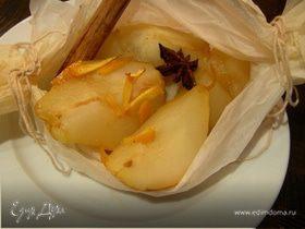 Груши, запеченные в апельсиново-пряном сиропе