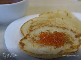 Оладушки на кефире/Pancakes with kefir