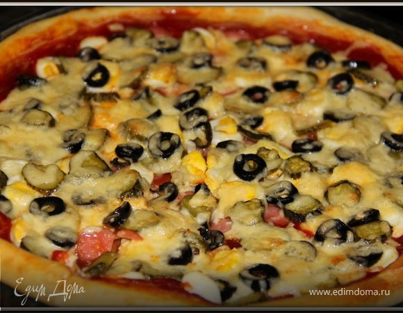 Пицца (лёгкий рецепт теста)