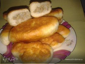 Пирожки с мясом и рисом /из заварного дрожжевого теста без яиц/