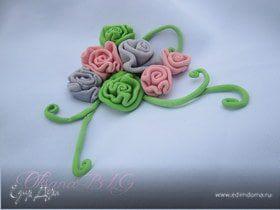 Цветочки из мастики