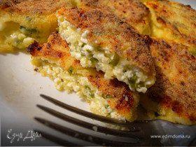Сырники с твердым сыром и зеленью