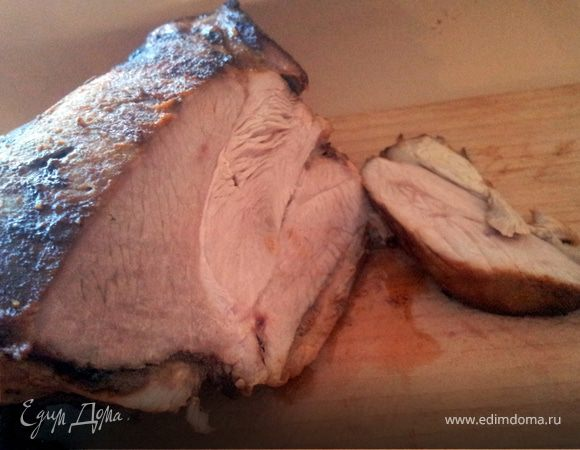 Запеченное бедро индейки (идеально для бутербродов)