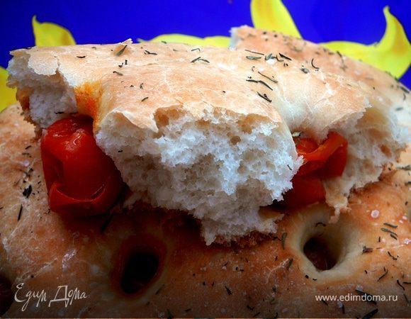 Фокачча с помидорами черри
