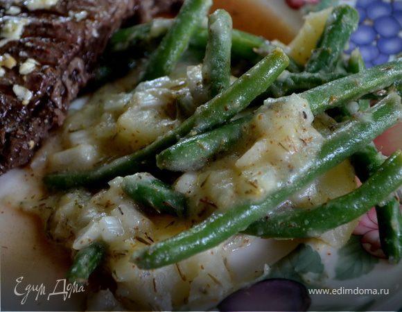 Картофель с зеленой фасолью