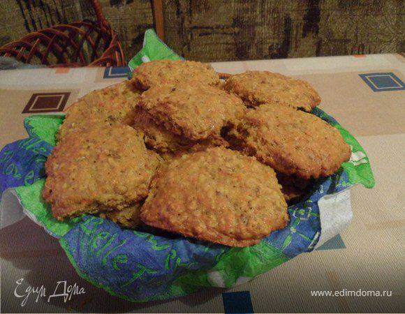 Морковно-овсяное печенье с орехами и шоколадом