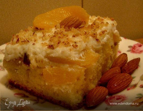 Нежнейший пирог с персиками