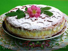 Бисквит с творожно-сливочным кремом