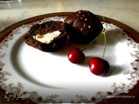 Шоколадные маффины с маскарпоне