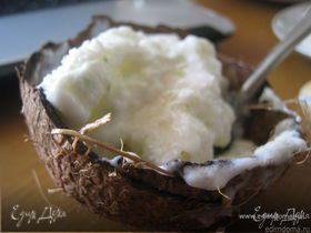 Баварский холодный пудинг с кокосом и лаймом