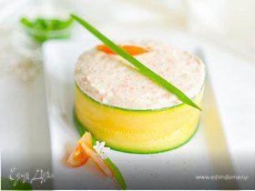 Пирожные с томатным муссом и морковным кремом