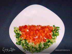 Сочный салат арбузные дольки