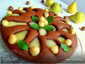 Пирог с грушами и макадамией