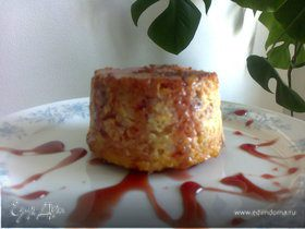 Мини-запеканка рисовая с творогом и вишнями