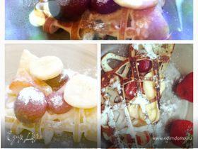 Ажурные блинчики со свежими фруктами