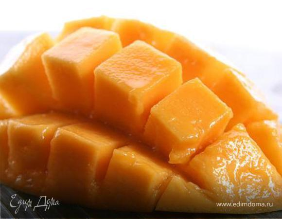 Пюре из манго и йогурта