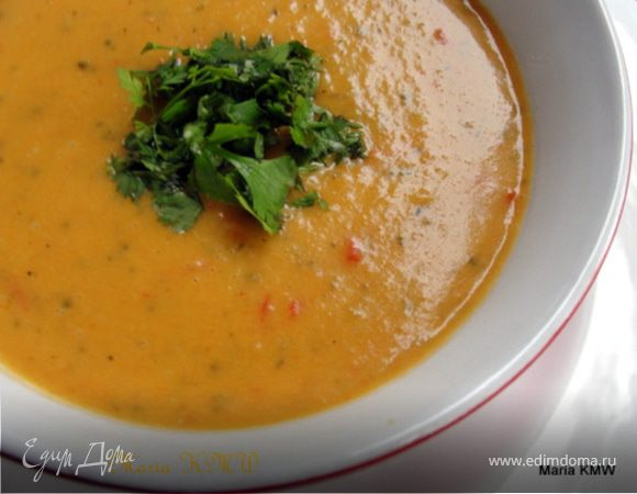 Легкий, летний крем-суп на кокосовом молоке
