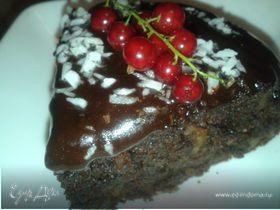 Шоколадный кекс с маком и орехами