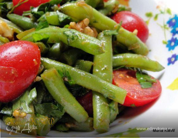 Летний салат со стручковой фасолью