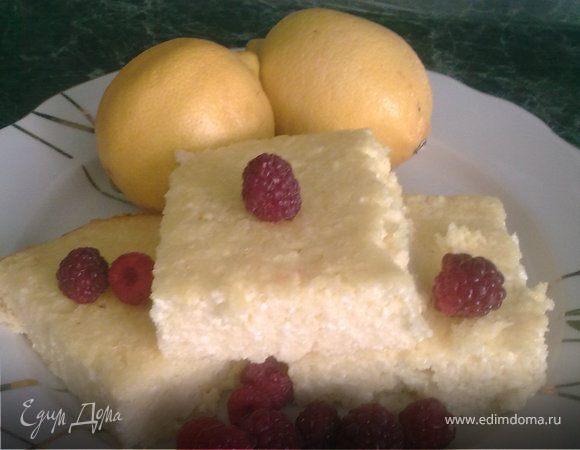 Творожник лимонный (без муки)