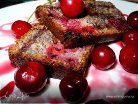Маковый кекс с вишней и розмарином