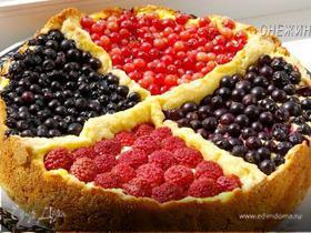 Творожный пирог «Четыре ягоды»