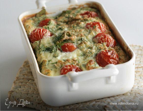 Клафути с козьим сыром и помидорами черри