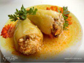 Перец, фаршированный курицей и кускусом