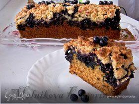 Чернично-кокосовый пирог