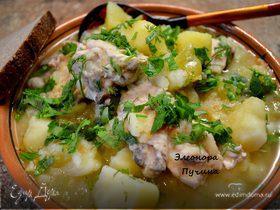 Тушеная картошка с курицей