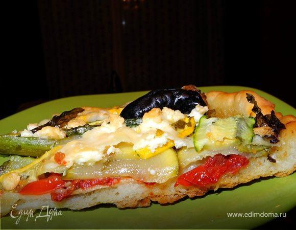 Гастроподарки. Пицца с цукини и вялеными помидорами
