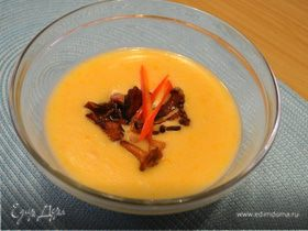 Сливочный суп-пюре с лисичками