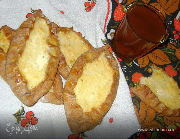 Калитки с картофельно-сырной начинкой