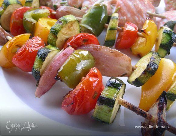 Летние овощные шашлычки-гриль