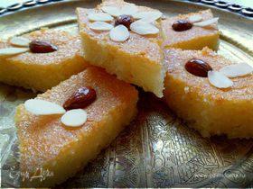 Намура (арабский манник, пропитанный сиропом с ароматом роз и флердоранжа)