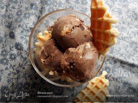 Кофейное мороженое с маскарпоне и вафлями