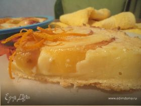 Пирог с нектаринами и ванильным кремом
