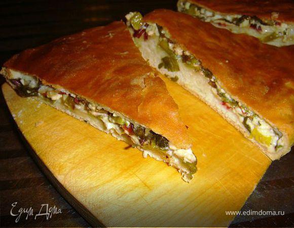 Осетинский пирог из листьев свеклы и козьего сыра