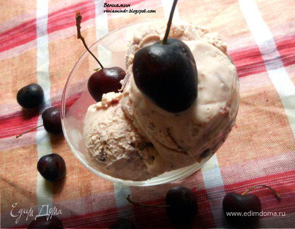 Черешневое мороженое с маскарпоне