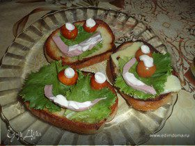 """Бутерброды """"Веселые Мордашки"""""""