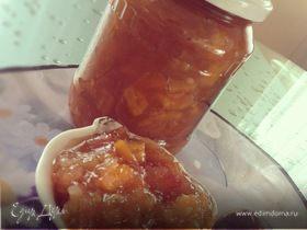 Яблочное повидло с апельсином и грецкими орехами