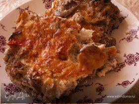 Запеканка из цветной капусты с шампиньонами и сыром