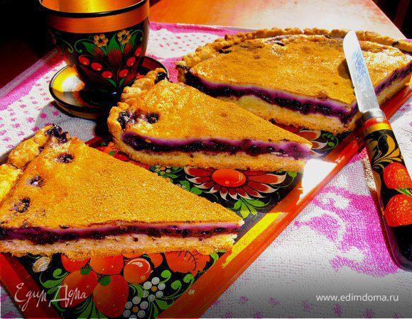 пирог с черникой рецепт с фото пошагово в духовке